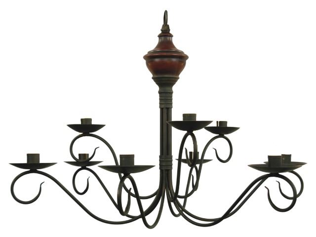 Picture of Washington Wood 2-Tier Chandelier