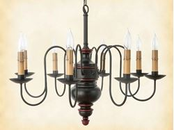 Chesapeake Wood Chandelier
