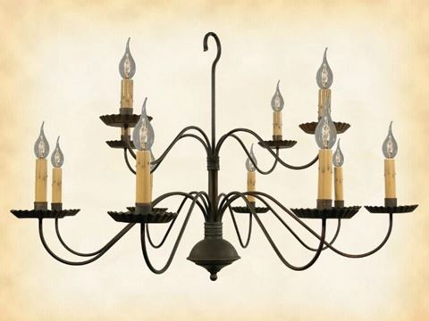 Monticello Metal 2-Tier Chandelier
