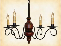 Queen Anne Mini Wood Chandelier