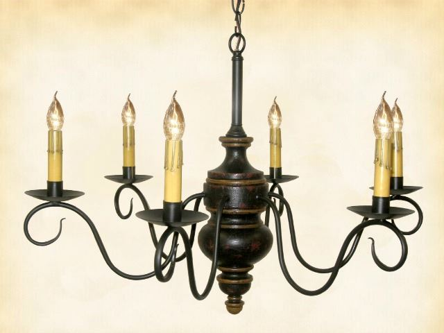 Picture of Queen Anne Wood Chandelier