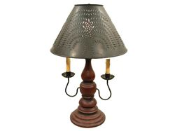 "Liberty Table Lamp 23"" with Two Candelabra Arms"