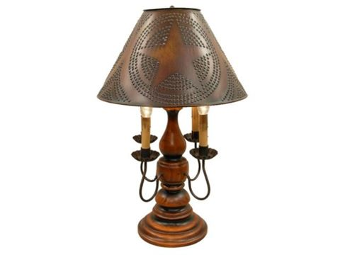 "Liberty Table Lamp 23"" with Four Candelabra Arms"