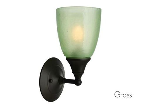 Frost Glass Sconce in Grass