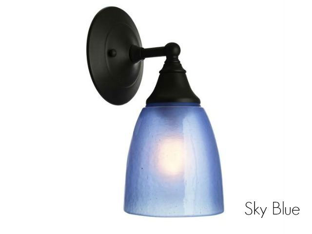 Picture of Frost Glass Sconce in Sky Blue
