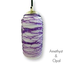 Picture of Spun Glass Pendant Light | Amethyst I