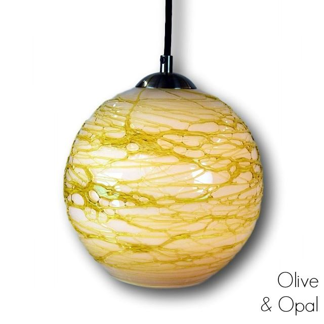 Picture of Spun Glass Pendant Light | Green II