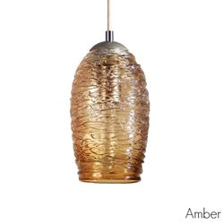 Spun Glass Pendant Light | Amber