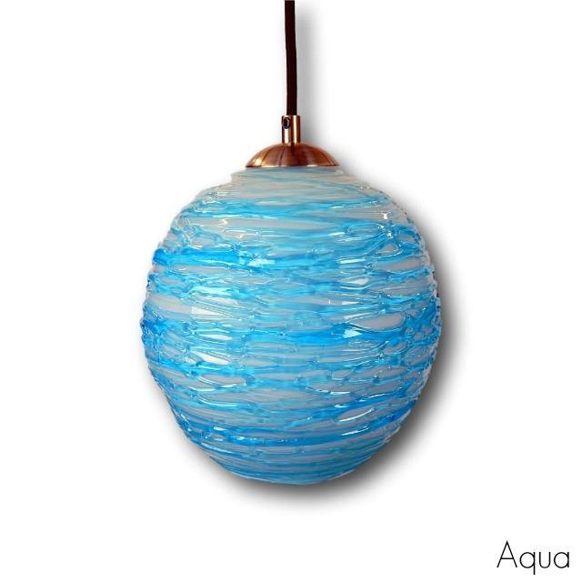 Picture of Spun Glass Pendant Light | Aqua I