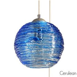 Spun Glass Pendant Light | Cerulean III