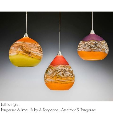 Blown Glass Pendant Light - Create Your Own Teardrop Strata