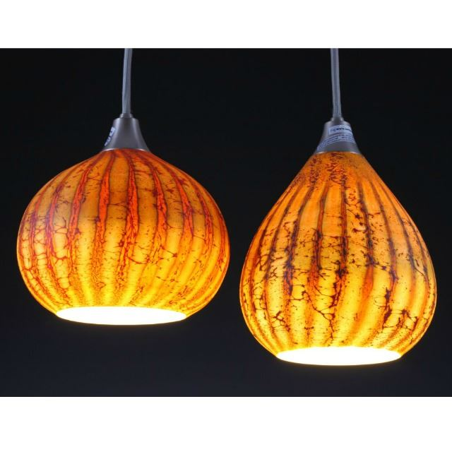 Picture of Blown Glass Pendant Light | Batik II