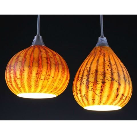 Blown Glass Pendant Light | Batik I