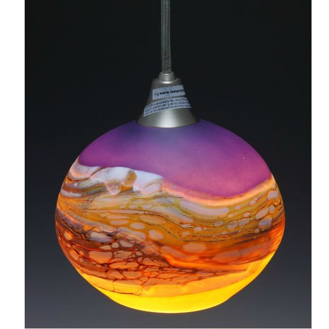 Picture of Blown Glass Pendant Light | Strata AL