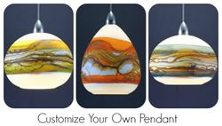 Picture of Blown Glass Pendant Light - Create Your Own Opal Strata