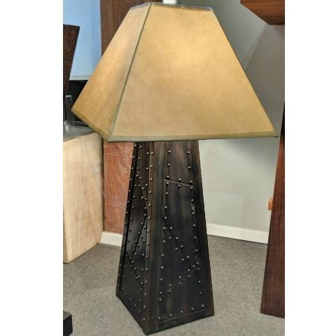Riveted Pewter Patina Table Lamp