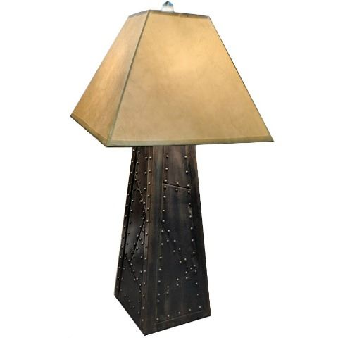 Picture of Riveted Pewter Patina Table Lamp
