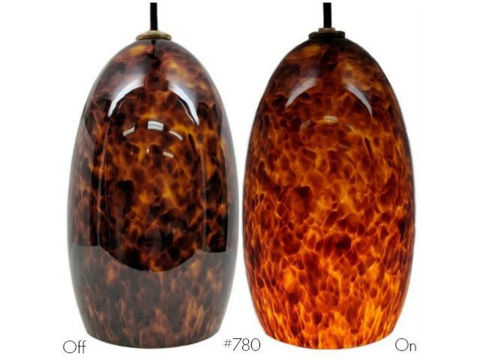 Blown Glass Pendant Light | Campfire