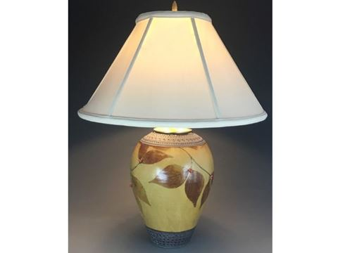 Botanical Table Lamp in Amber