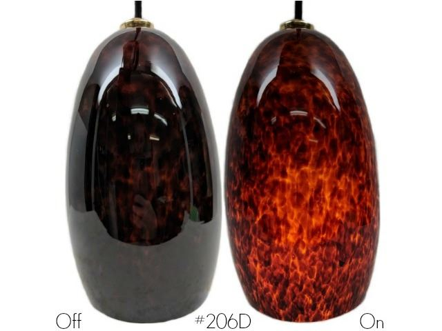 Picture of Blown Glass Pendant Light | Root Beer