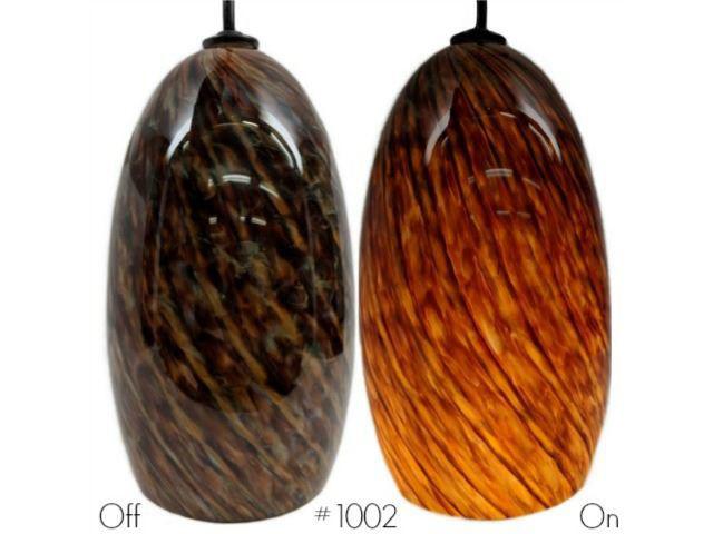 Picture of Blown Glass Pendant Light | Seafoam
