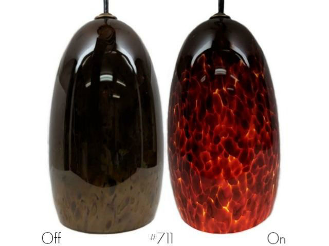 Picture of Blown Glass Pendant Light | Elements
