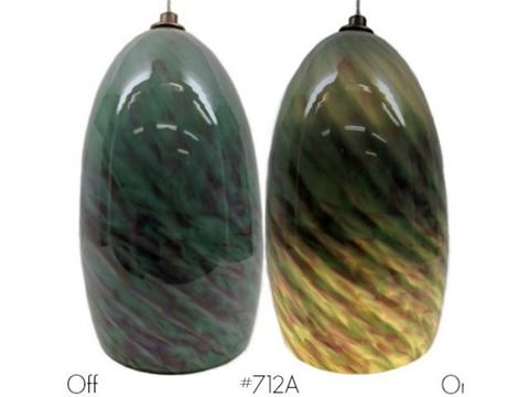 Blown Glass Pendant Light | Jade Sunset