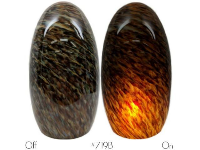 Picture of Blown Glass Pendant Light | Granite Gold