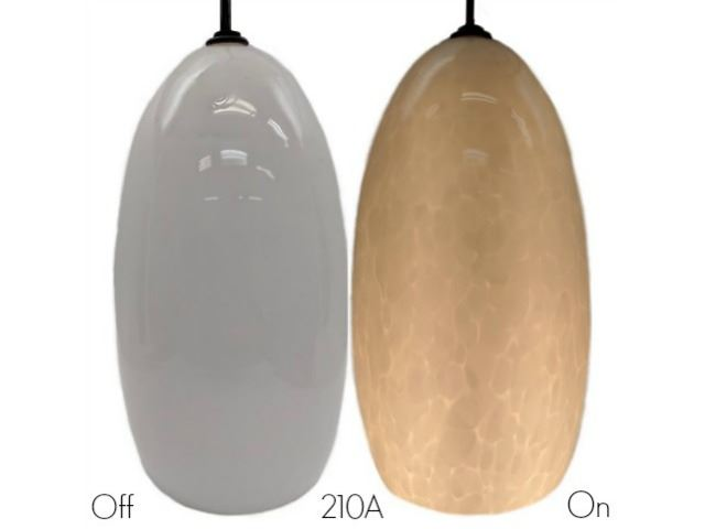Picture of Blown Glass Pendant Light | Alabaster