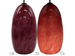 Blown Glass Pendant Light | Magenta