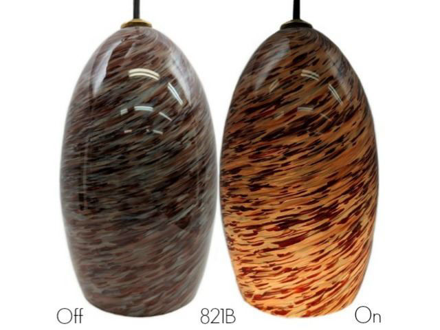 Picture of Blown Glass Pendant Light | Ruby
