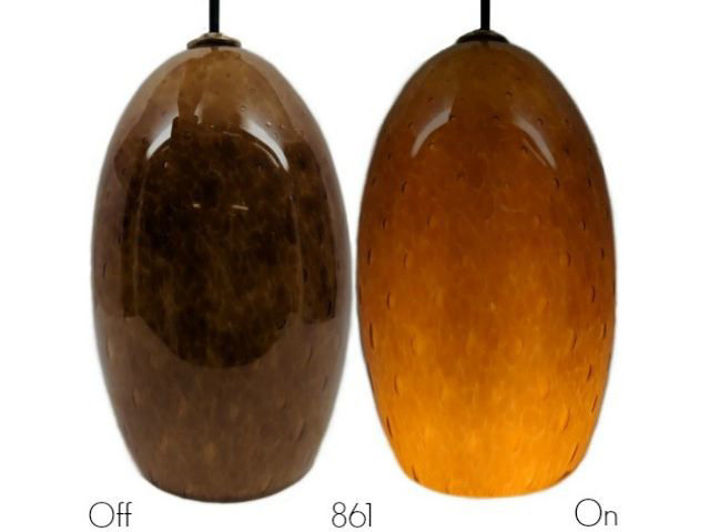 Picture of Blown Glass Pendant Light | Honey