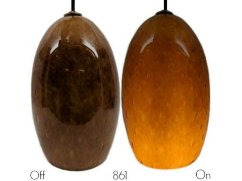 Blown Glass Pendant Light | Honey