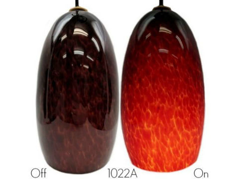 Blown Glass Pendant Light | Cherry Cola