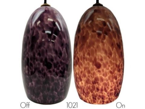 Blown Glass Pendant Light | Plum