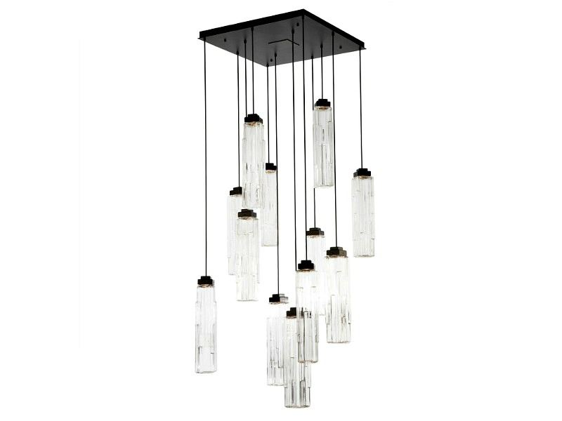 Picture of Ledgestone Square Multi-Port Pendant Chandelier 12 pc