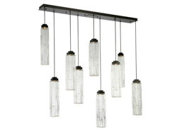 Picture of Linear Chandelier | Ledgestone | 9 or 10 pc