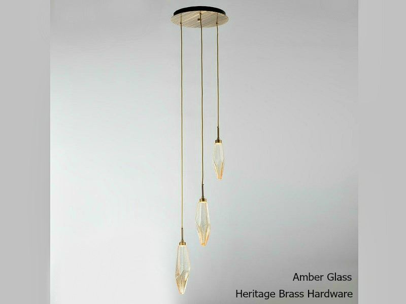 Picture of Rock Crystal Round Multi-Port Pendant Chandelier 3 pc