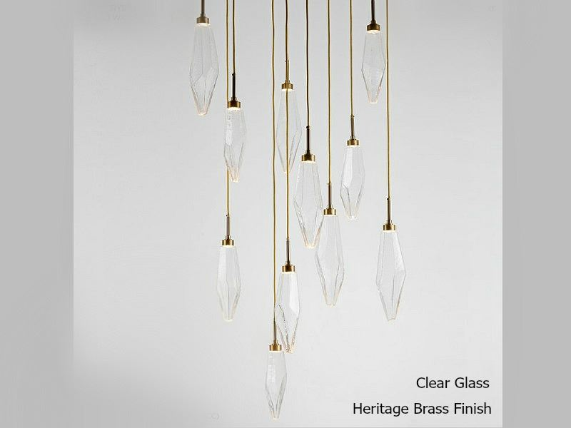 Picture of Rock Crystal Round Multi-Port Pendant Chandelier 11 pc