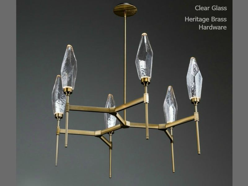 Picture of Rock Crystal Round Belvedere Chandelier 37""