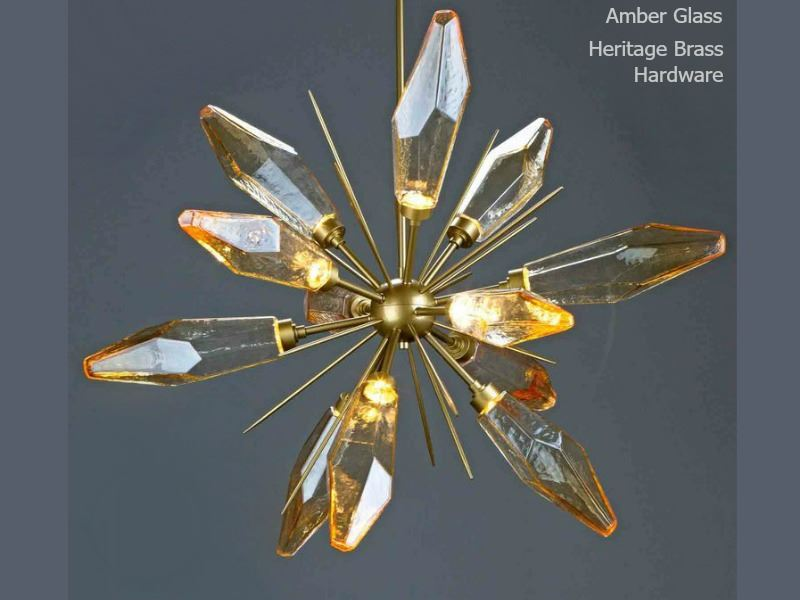 Picture of Rock Crystal Starburst Chandelier 38""