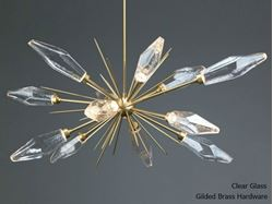 Rock Crystal Oval Starburst Chandelier
