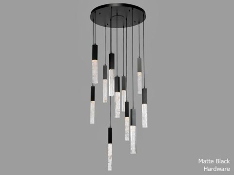 Axis Round Multi-Port Chandelier 11 pc