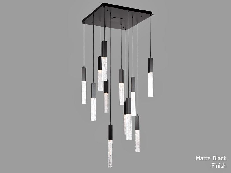 Picture of Axis Square Multi-Port Chandelier 12 pc