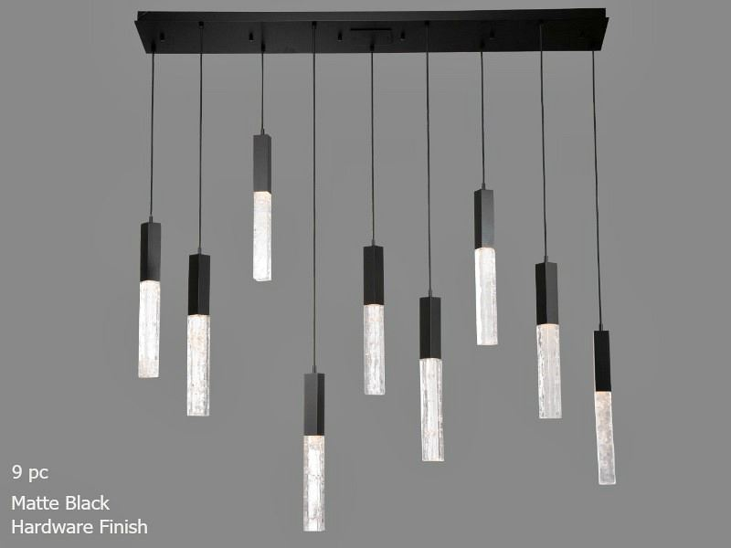 Picture of Linear Chandelier | Axis | 9 or 10 pc