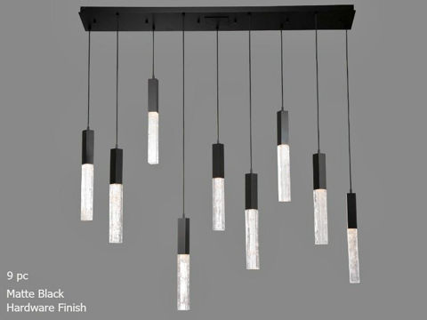 Linear Chandelier | Axis | 9 or 10 pc
