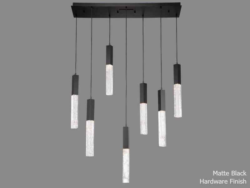 Picture of Linear Chandelier   Axis   7 pc