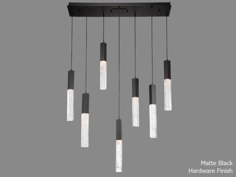 Linear Chandelier   Axis   7 pc