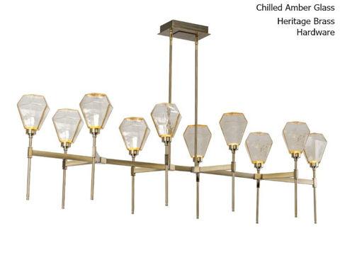 "Linear Chandelier | Hedra | Belvedere | 69"""