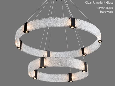 Parallel Collection Two Tier Ring Chandelier